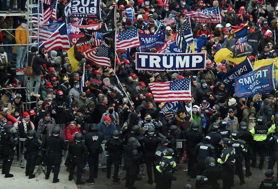 Supporters of then-President Donald Trump violently breached the Capitol on Jan. 6 after he spent months spreading lies that the election had been stolen from him. (Photo: OLIVIER DOULIERY via Getty Images)