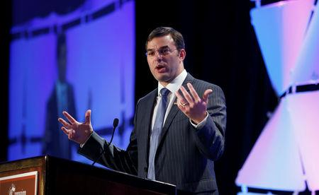 FILE PHOTO: Justin Amash speaks at the LPAC conference in Chantilly, Virginia