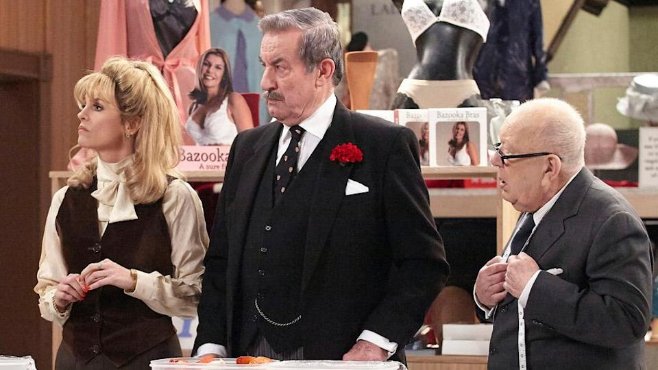John Challis (centre) in Are You Being Served?