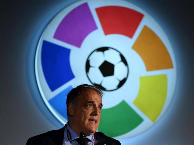 Javier Tebas, La Liga's president, has been outspoken in criticising PSG (Getty)