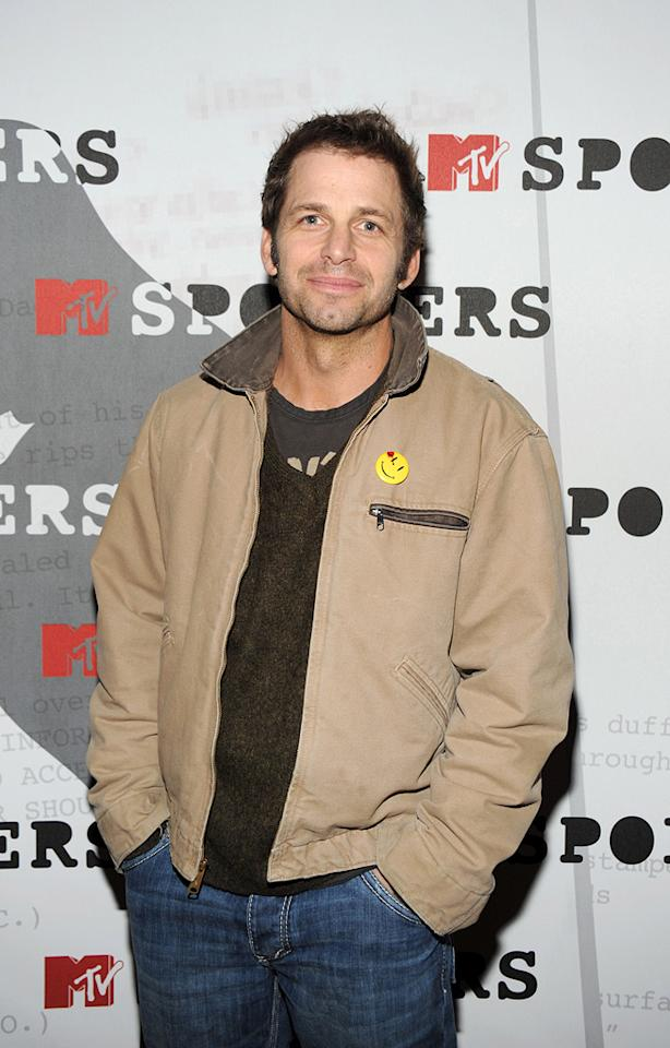 """Director <a href=""""http://movies.yahoo.com/movie/contributor/1808536947"""">Zack Snyder</a> at the MTV screening party for <a href=""""http://movies.yahoo.com/movie/1808406490/info"""">Watchmen</a> in West Hollywood - 02/18/2009"""