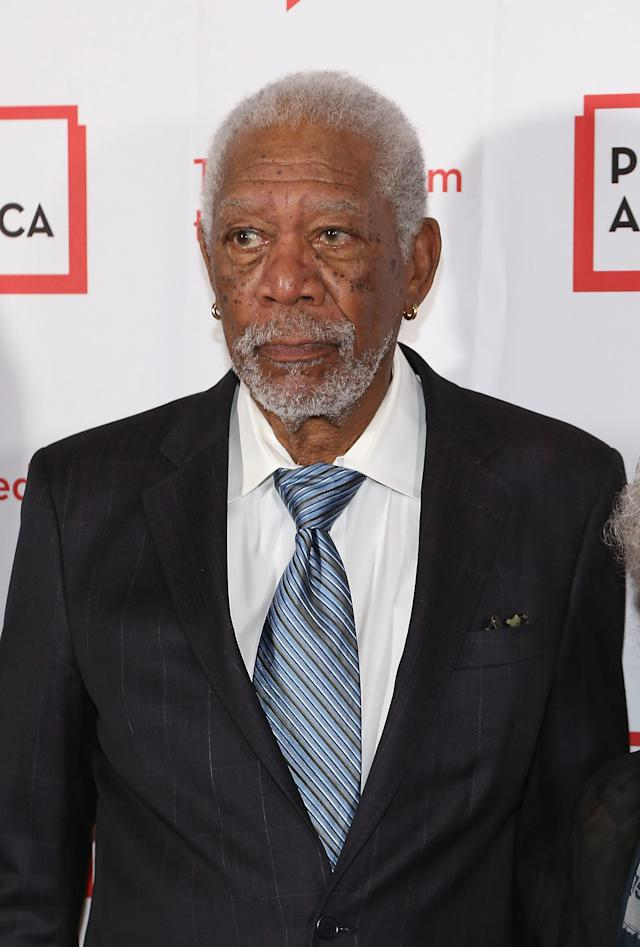 Morgan Freeman attends PEN America's 2018 Literary Gala at the American Museum of Natural History on May 22, 2018, in New York City. (Photo: Getty Images)