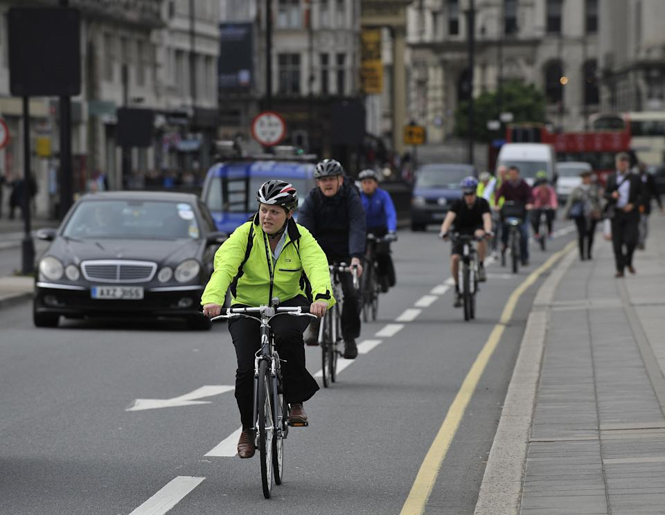 Brits supported the idea of penalising cyclists for breaking the rules. (PA)