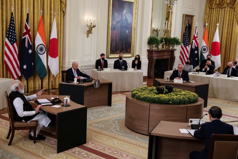 U.S. President Biden hosts 'Quad nations' meeting at the Leaders' Summit of the Quadrilateral Framework at the White House in Washington