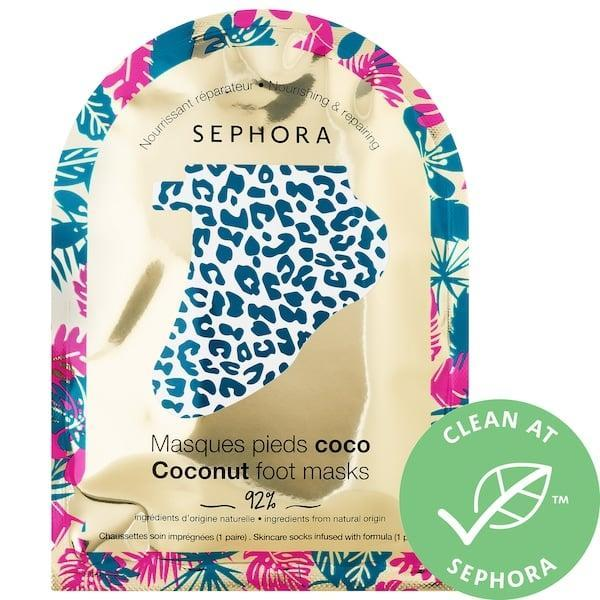 <p>This <span>Sephora Collection Holiday Coconut Foot Mask</span> ($5) makes a sweet (smelling) stocking stuffer . . . and a silly photo opp. Your loved one just slips on these leopard print booties and the coconut oil extract repairs dry feet and rough heels so they're left nourished and soft.</p>