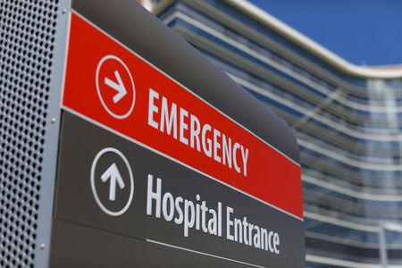 FILE PHOTO: Hospital emergency sign in La Jolla, California