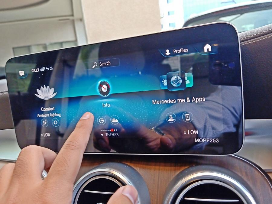 The GLC is now a 'connected SUV' with its embedded SIM-based MBUX infotainment system. You can access many functions of the car including turning the car on/off, pre-cooling the car, remote locking it etc. Yes, the Hyundai Venue also has all these features, but in the luxury space this is the first car to get them.