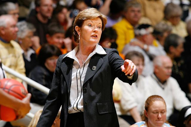 <p>Pat Summitt, the coach of the Tennessee Lady Volunteers basketball team, died June 28 at age 64. She had previously announced her diagnosis of early-onset Alzheimer's disease. — (Pictured) Pat Summitt, head coach of the Tennessee Lady Volunteers, looks on against the Purdue Boilermakers during the 2008 NCAA Tournament second round game at Mackey Arena in 2008 in West Lafayette, Indiana. (Joe Robbins/Getty Images) </p>