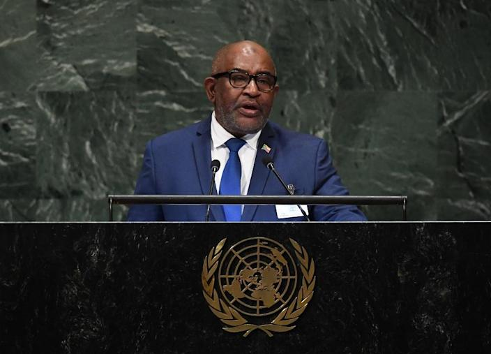 Comoros' President Azali Assoumani won a referendum in July allowing him to scrap the rotation of the presidency between Comoros' three main islands after one term. Opposition-leaning Anjouan had been next in line (AFP Photo/TIMOTHY A. CLARY)