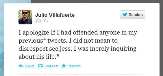 Twitter screengrab Villafuerte