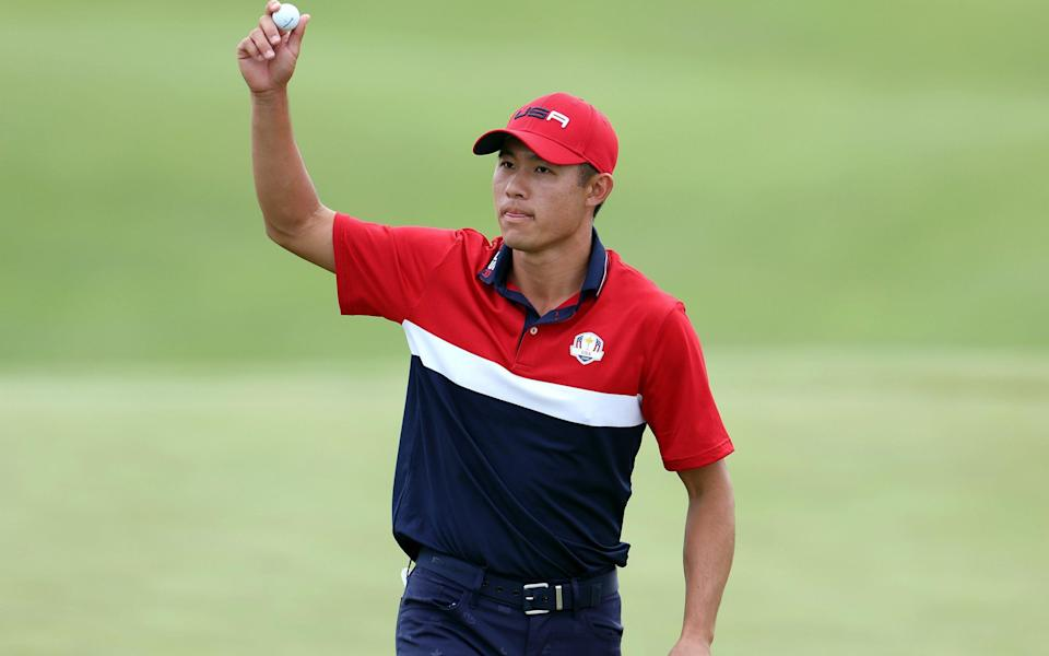 Collin Morikawa was one of six rookies who helped the USA to crushing win - GETTY IMAGES