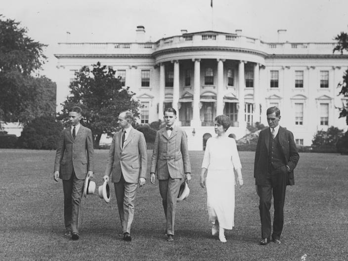 calvin coolidge and sons