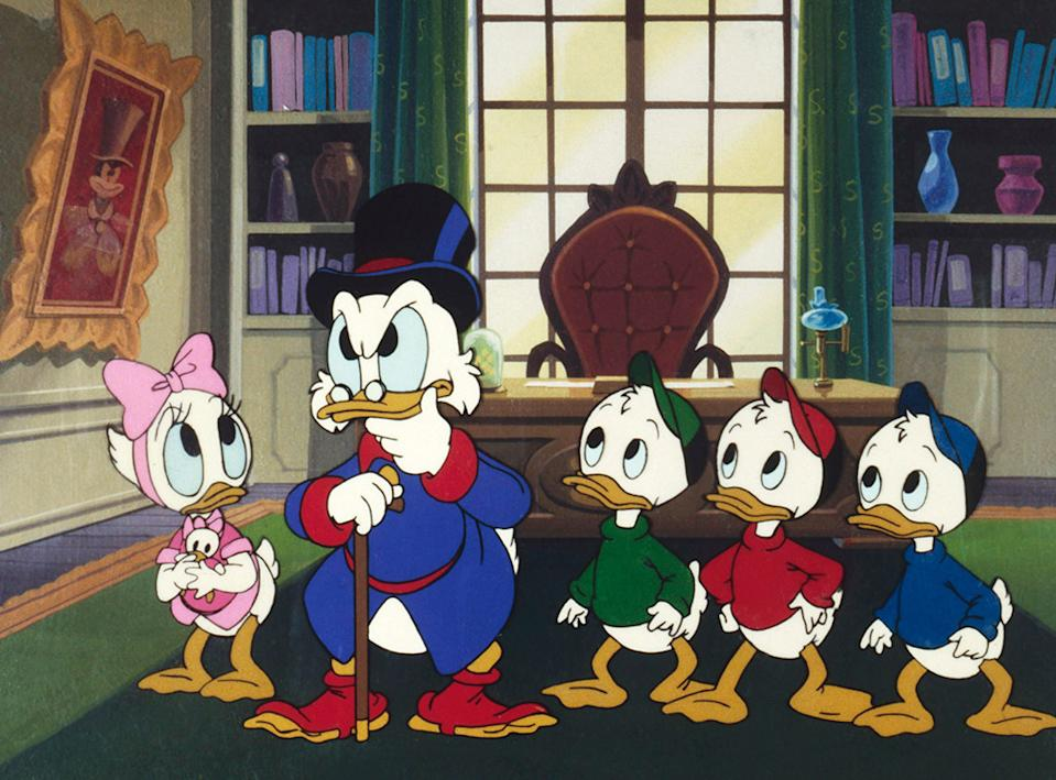 Let Webby Vanderquack, Scrooge McDuck, Louie, Huey, and Dewey brighten up your Xmas wth some 'Ducktales.' (Photo: Disney)