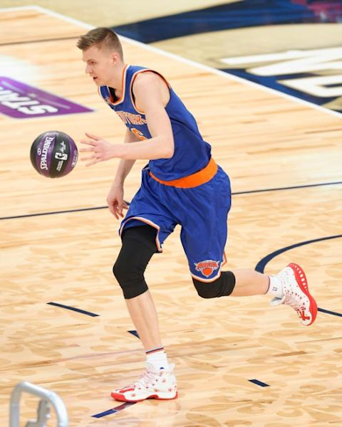 The New York Knicks kept their slim playoff hopes alive with a 101-90 win over the Orlando Magic, behind a 20 point performance from Kristaps Porzingis, at Amway Center in Orlando, Florida, on March 1, 2017