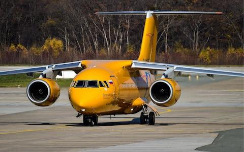 An Antonov An-148-100V plane operated by Saratov Airlines