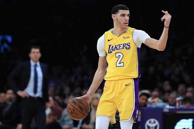 "LaVar Ball said that if the <a class=""link rapid-noclick-resp"" href=""/nba/teams/lal"" data-ylk=""slk:Lakers"">Lakers</a> do trade Lonzo this offseason — even if it helps them land <a class=""link rapid-noclick-resp"" href=""/nba/players/4896/"" data-ylk=""slk:Kawhi Leonard"">Kawhi Leonard</a> or <a class=""link rapid-noclick-resp"" href=""/nba/players/3704/"" data-ylk=""slk:LeBron James"">LeBron James</a> — that it will be the ""worst move they ever made."" (Getty Images)"