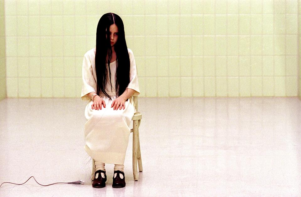 """<p>""""I watched like 10 minutes of <em>The Ring</em> in high school on Halloween with my friends and was SO scared that my friend and I ran into the bathroom and spent the entire length of the movie straightening her hair until our other friends finished it,"""" Caitlin Brody, entertainment director at Condé Nast, remembers. """"She had really thick hair, so it took the length of the movie!""""</p> <p><a href=""""https://www.hulu.com/movie/the-ring-41948906-6700-422b-a197-40bef22b71b5"""" rel=""""nofollow noopener"""" target=""""_blank"""" data-ylk=""""slk:Available to stream on Hulu"""" class=""""link rapid-noclick-resp""""><em>Available to stream on Hulu</em></a></p>"""