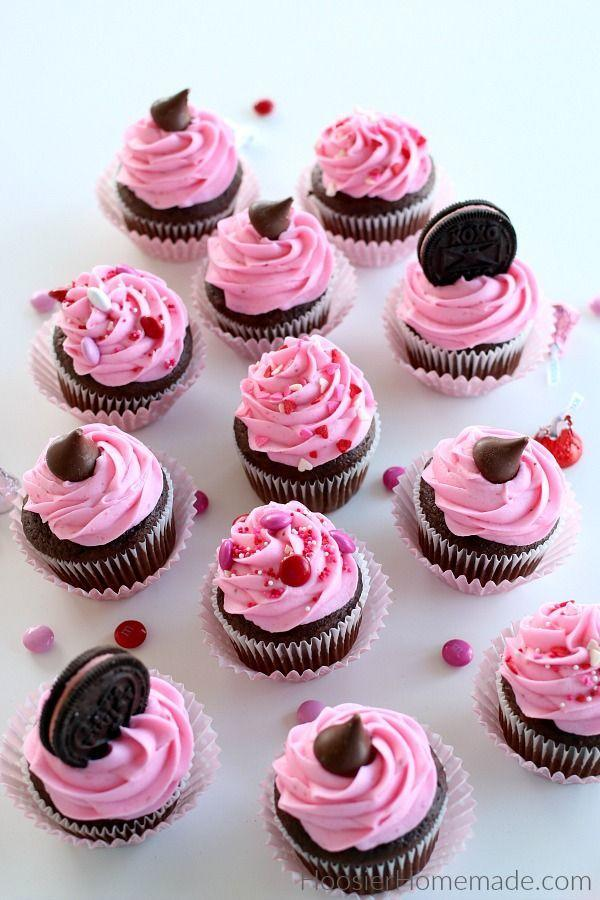 """<p>There's no better (or more romantic) combo than strawberries and chocolate— especially when it's this easy and fun to make.</p><p><a href=""""https://hoosierhomemade.com/easy-valentine-cupcakes/"""" rel=""""nofollow noopener"""" target=""""_blank"""" data-ylk=""""slk:Get the recipe from Hoosier Homemade »"""" class=""""link rapid-noclick-resp""""><em>Get the recipe from Hoosier Homemade »</em></a></p>"""