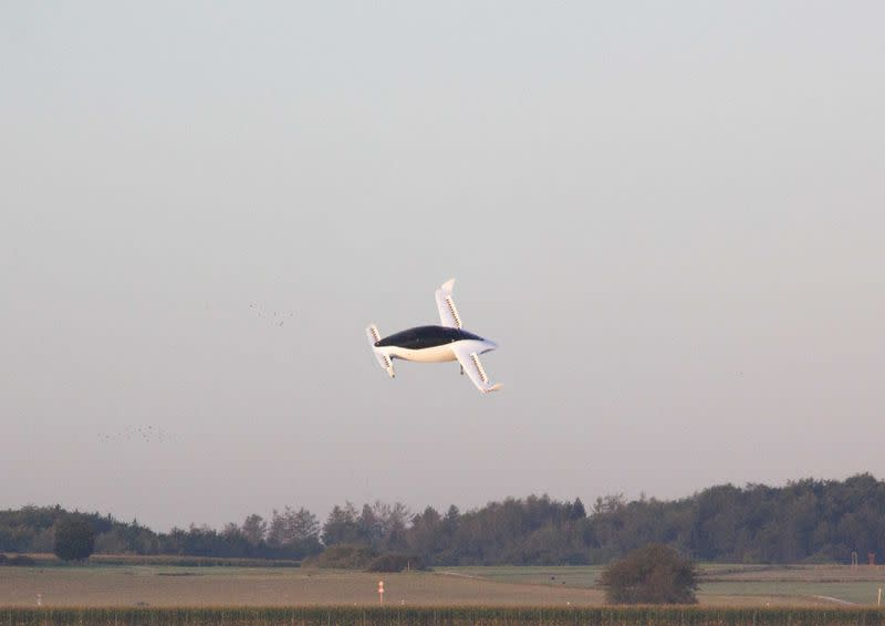 FILE PHOTO: An handout picture from Munich flying taxi startup Lilium shows its five-seater prototype