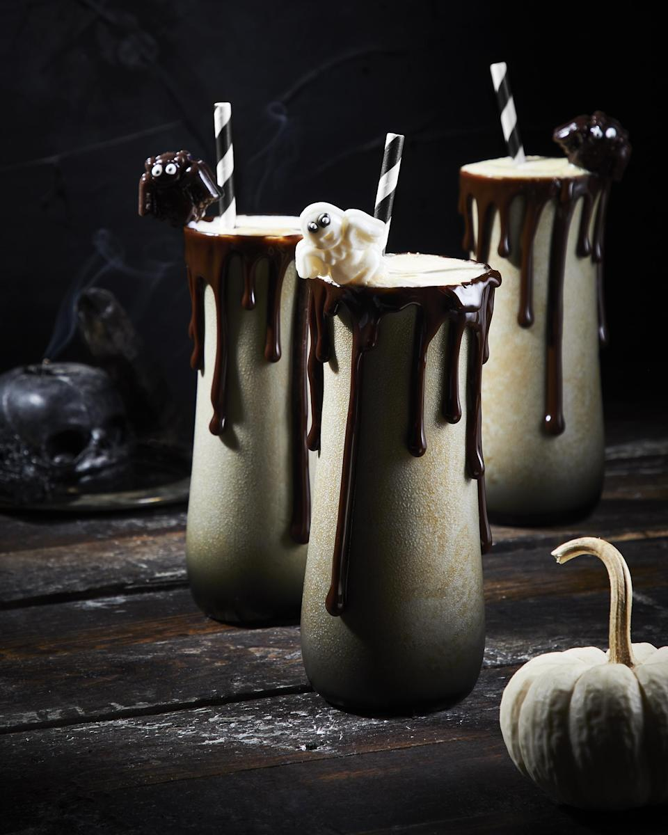 "<p>Celebrate Halloween with this spooky milkshake. This recipe uses vanilla ice cream blended together with pumpkin spice and pumpkin puree for a seasonal treat. Then booze it up with a splash of bourbon. It's also a <a href=""https://www.thedailymeal.com/cook/use-your-leftover-halloween-candy-these-11-dessert-recipes-0?referrer=yahoo&category=beauty_food&include_utm=1&utm_medium=referral&utm_source=yahoo&utm_campaign=feed"" rel=""nofollow noopener"" target=""_blank"" data-ylk=""slk:great dessert you can top off with your favorite Halloween candy"" class=""link rapid-noclick-resp"">great dessert you can top off with your favorite Halloween candy</a>.</p> <p><a href=""https://www.thedailymeal.com/recipe/pumpkin-spice-milkshake-recipe?referrer=yahoo&category=beauty_food&include_utm=1&utm_medium=referral&utm_source=yahoo&utm_campaign=feed"" rel=""nofollow noopener"" target=""_blank"" data-ylk=""slk:For the Jack-O'-Lantern Milkshake recipe, click here."" class=""link rapid-noclick-resp"">For the Jack-O'-Lantern Milkshake recipe, click here.</a></p>"
