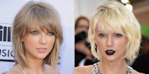 <p>Taylor usually sticks with her signature sandy blonde hair, breakup or not. But after her split from Calvin Harris, she dyed her hair platinum blonde for the Met Gala, met Tom Hiddleston, and...you know the rest.</p>