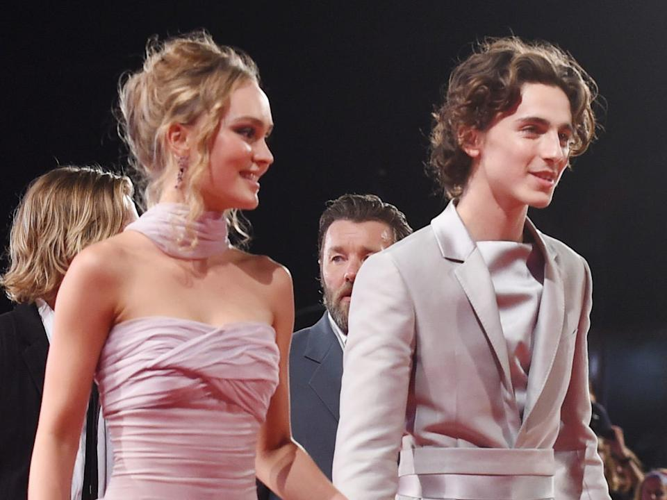 lily rose depp and timothee chalamet september 2019