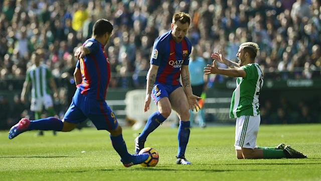 Real Madrid could move four points ahead of Barcelona with a game in hand following the champions' 1-1 draw at Real Betis.