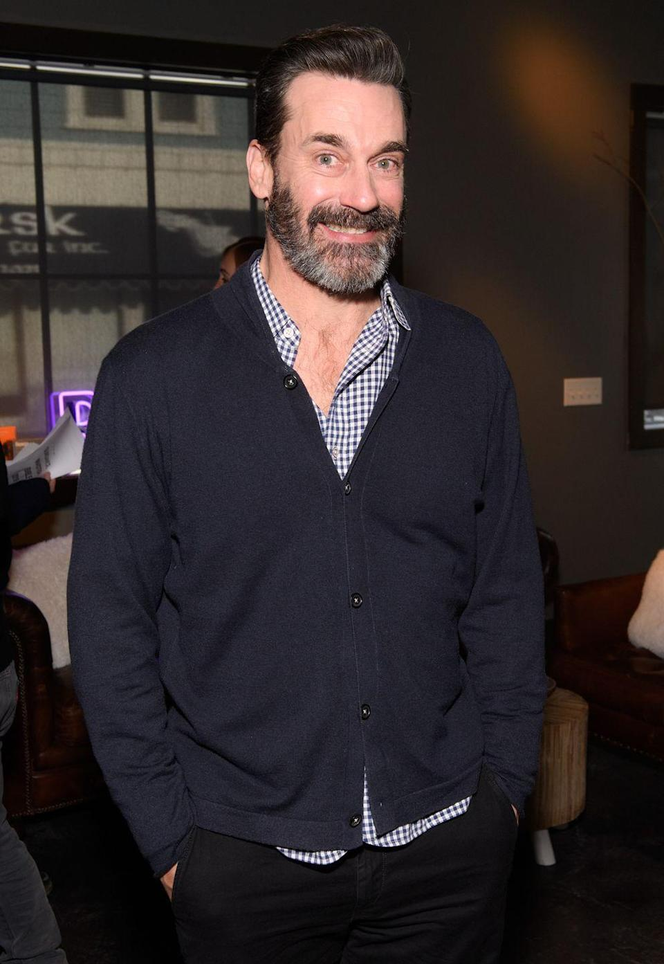 <p>When has Jon Hamm ever let us down in the grooming department? Well, his chest hair is no different. </p>