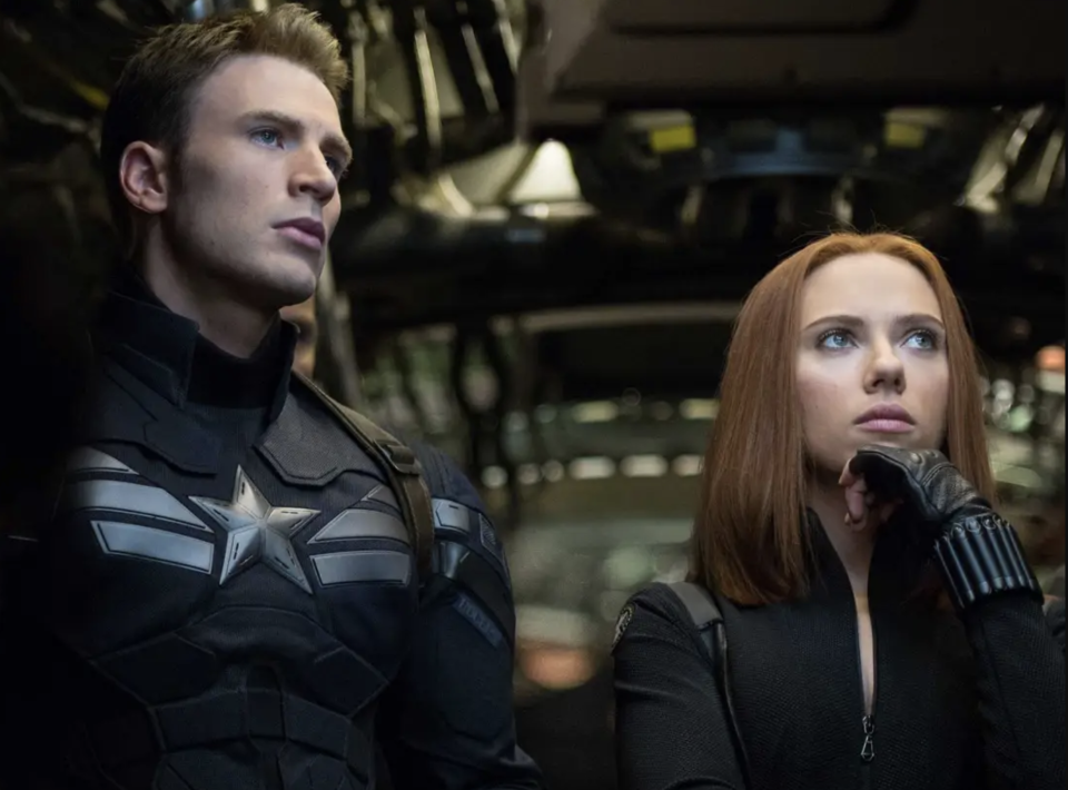Steve Rogers and Natasha Romanoff start their own viewing party (credit: Marvel Studios)