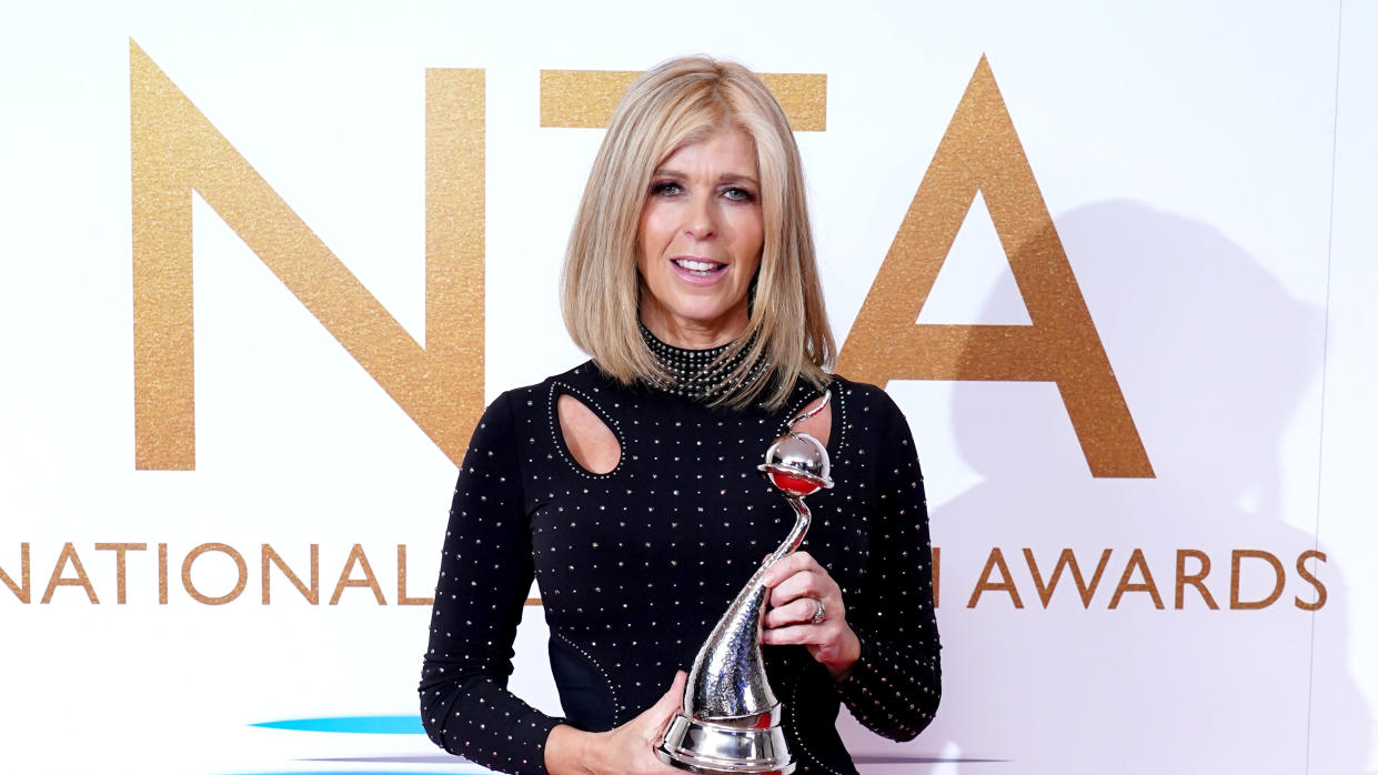 Kate Garraway won the Authored Documentary prize at the NTAs for 'Finding Derek'. (Ian West/PA Images via Getty Images)