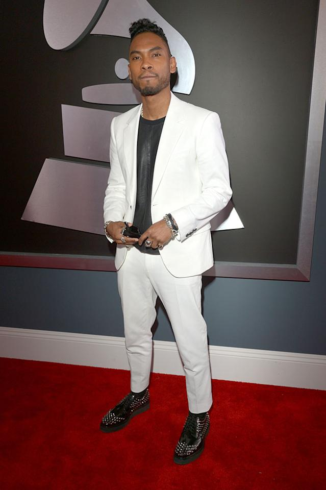 Miguel Jontel Pimentel arrives at the 55th Annual Grammy Awards at the Staples Center in Los Angeles, CA on February 10, 2013.