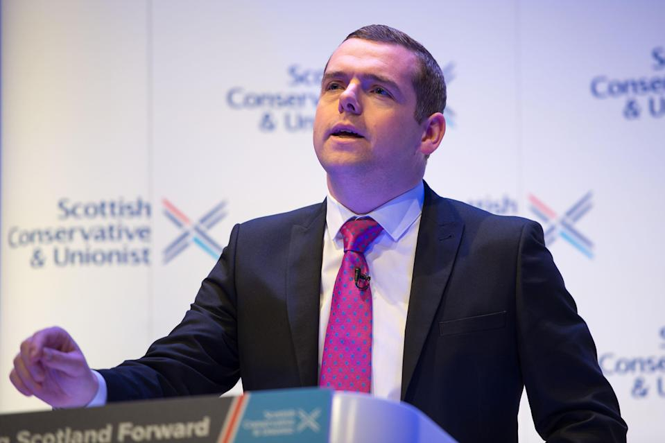 Scottish Conservative leader Douglas Ross condemned the prospect of a 'wildcat' referendum (Colin D Fisher/Scottish Conservatives/PA)