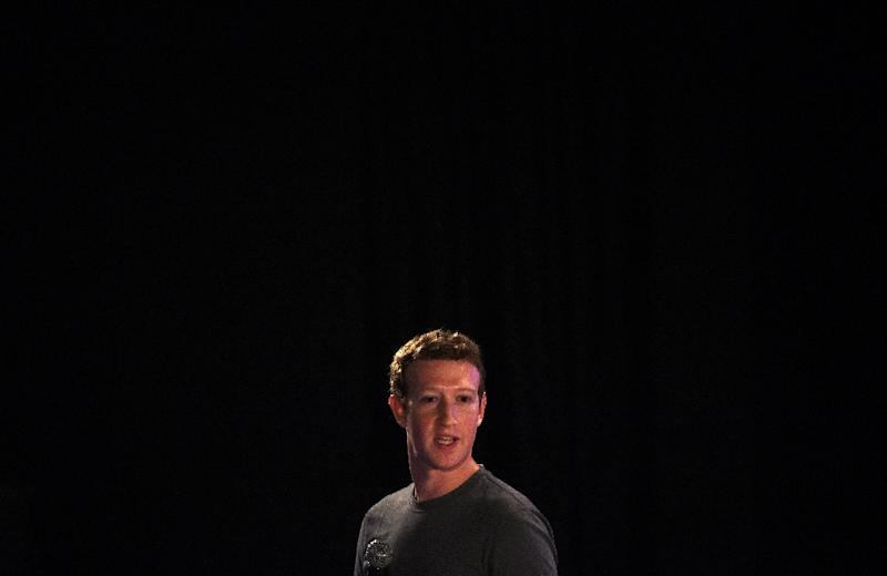 """Facebook chief executive Mark Zuckerberg brushed off the US election by telling a tech conference that """"most progress... is made by private citizens"""" (AFP Photo/MONEY SHARMA)"""