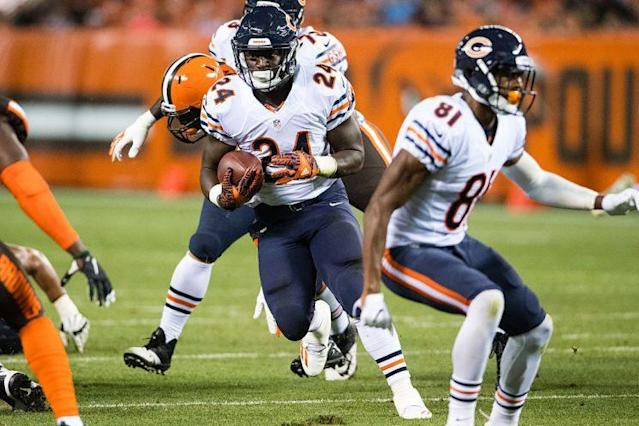 With Jeremy Langford injured, rookie RB Jordan Howard has a chance to shine. (Photo by Jason Miller/Getty Images)