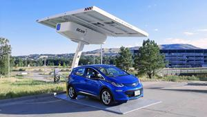 Beam Global deploys multiple Beam-branded EV ARC 2020 units within days of the company's rebrand from Envision Solar. Shown here is the first Beam-branded unit at National Renewable Energy Laboratory in Golden Colorado, deployed the same day the company launched the rebrand.