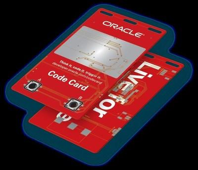 Visitors to the Groundbreaker Hub at Oracle Code One will live able to pick up their hands on the Code Card.