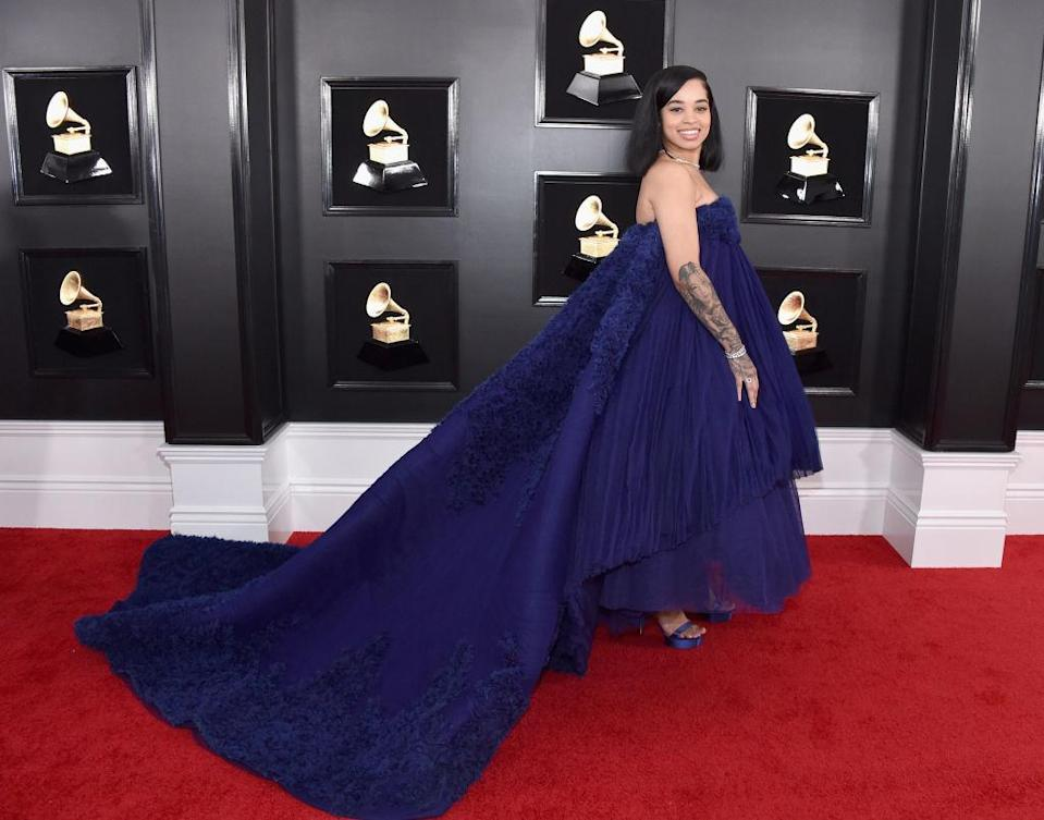 <p>Ella Mai attends the 61st annual Grammy Awards at Staples Center on Feb. 10, 2019, in Los Angeles. </p>