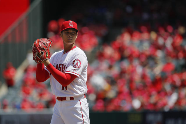 Shohei Ohtani's performance has caught the attention of the oddsmakers. (AP Photo)