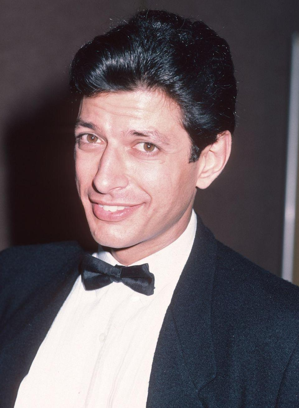 <p>Jeff Goldblum looked every bit a movie star back in the day when the <em>Jurassic Park </em>star's thick hair could rival that of Elvis Presley. </p>