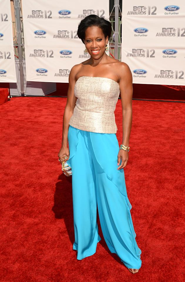 LOS ANGELES, CA - JULY 01:  Actress Regina King arrives at the 2012 BET Awards at The Shrine Auditorium on July 1, 2012 in Los Angeles, California.  (Photo by Jason Merritt/Getty Images For BET)