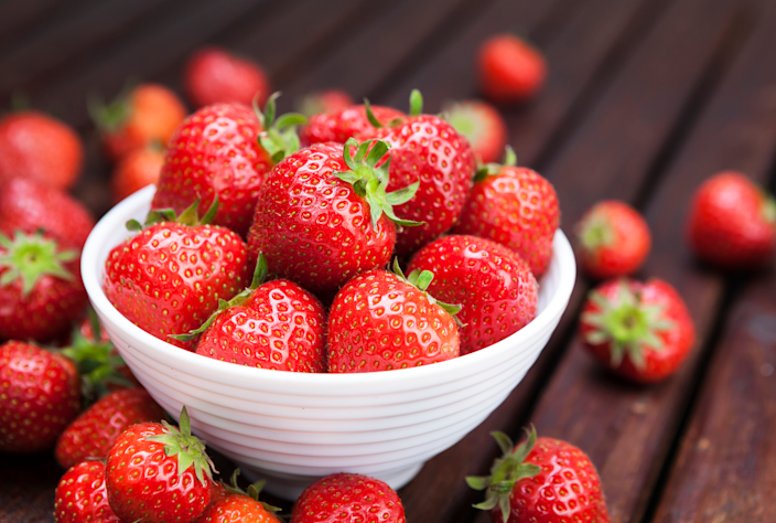 "<p>They might be a sweet treat—but they also pack a potent health punch: <a href=""https://www.prevention.com/food-nutrition/healthy-eating/a26537540/health-benefits-of-strawberries/"" rel=""nofollow noopener"" target=""_blank"" data-ylk=""slk:Strawberries"" class=""link rapid-noclick-resp"">Strawberries</a> are loaded with antioxidants like flavonoids and tannins. In addition to scavenging harmful free radicals, the compounds are thought to help protect against DNA damage and inhibit the growth of cancer cells, a <a href=""https://www.ncbi.nlm.nih.gov/pubmed/28609132"" rel=""nofollow noopener"" target=""_blank"" data-ylk=""slk:recent review"" class=""link rapid-noclick-resp"">recent review</a> concluded.</p><p><strong>Try it:</strong> <a href=""https://www.prevention.com/food-nutrition/recipes/a22038069/strawberry-caprese-pasta-salad/"" rel=""nofollow noopener"" target=""_blank"" data-ylk=""slk:Strawberry Caprese Pasta Salad"" class=""link rapid-noclick-resp"">Strawberry Caprese Pasta Salad</a></p>"