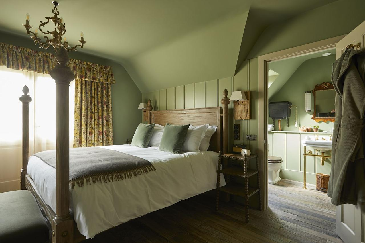 """<p><a href=""""https://www.thepighotel.com/"""">The Pig</a>'s collection of hotels across the UK are a great example of sustainably oriented hospitality done right. We especially love the Pig at Bridge Place, located in a 17th-century manor house that once played host to classic rockers such as Led Zeppelin and the Kinks. The hotel's kitchens have a 'garden-to-plate' ethos: any food not sourced from the on-site garden comes from farmers and purveyors located within a 25-mile radius. The property's cosy common areas are adorned with antiques and upcycled furniture, and in each bedroom, guests will find a rather unique souvenir – a packet of strawberry seeds to take home and plant in their own backyard.</p><p><a href=""""https://www.thepighotel.com/at-bridge-place/"""">The Pig at Bridge Place</a>, Kent</p>"""