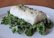 """<p>This delicious meal of <a href=""""https://www.popsugar.com/fitness/Healthy-Panko-Fish-Recipe-29308925"""" class=""""link rapid-noclick-resp"""" rel=""""nofollow noopener"""" target=""""_blank"""" data-ylk=""""slk:panko-crusted fish over kale"""">panko-crusted fish over kale</a> is the perfect post-workout meal.</p>"""