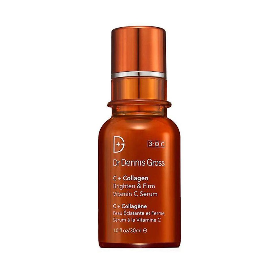 """<p><strong>Dr. Dennis Gross Skincare</strong></p><p>sephora.com</p><p><strong>$78.00</strong></p><p><a href=""""https://go.redirectingat.com?id=74968X1596630&url=https%3A%2F%2Fwww.sephora.com%2Fproduct%2Fc-collagen-brighten-firm-vitamin-c-serum-P415209&sref=https%3A%2F%2Fwww.elle.com%2Fbeauty%2Fmakeup-skin-care%2Ftips%2Fg8091%2Fface-serum%2F"""" rel=""""nofollow noopener"""" target=""""_blank"""" data-ylk=""""slk:Shop Now"""" class=""""link rapid-noclick-resp"""">Shop Now</a></p><p>Brighten up dull skin by slathering your face with this illuminating gel-serum hybrid packed with potent Vitamin C. It absorbs quickly and leaves behind smoother and more luminous skin</p>"""