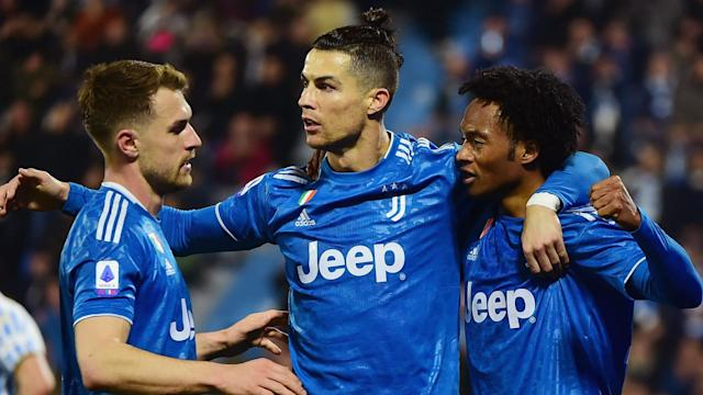Juventus moved four points clear at the summit as Cristiano Ronaldo reached a major milestone and equalled a Serie A record.