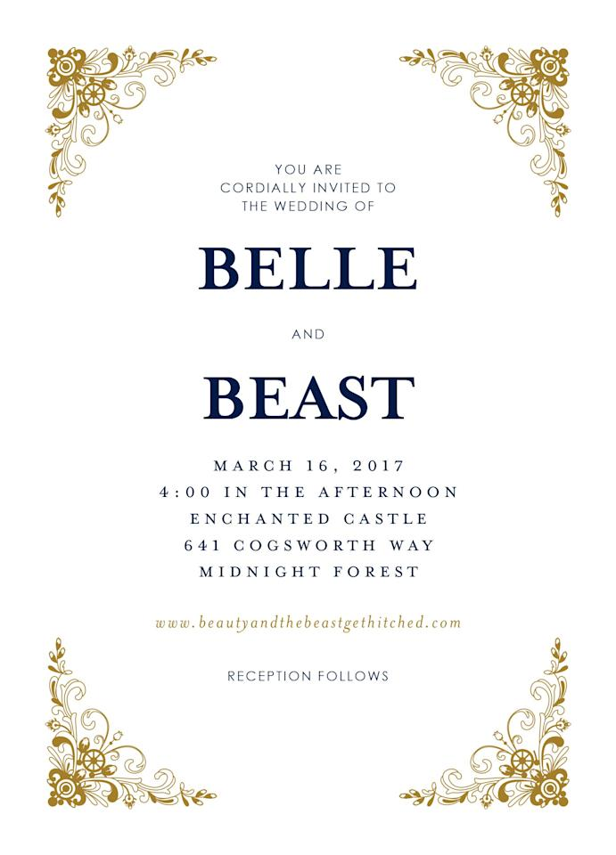<p>We found the perfect wedding invitations for every Disney princess.</p>