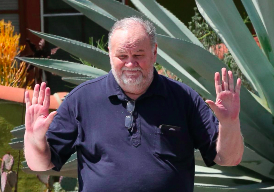 Meghan's father Thomas Markle did not attend the wedding for health reasons (Picture: ABC)