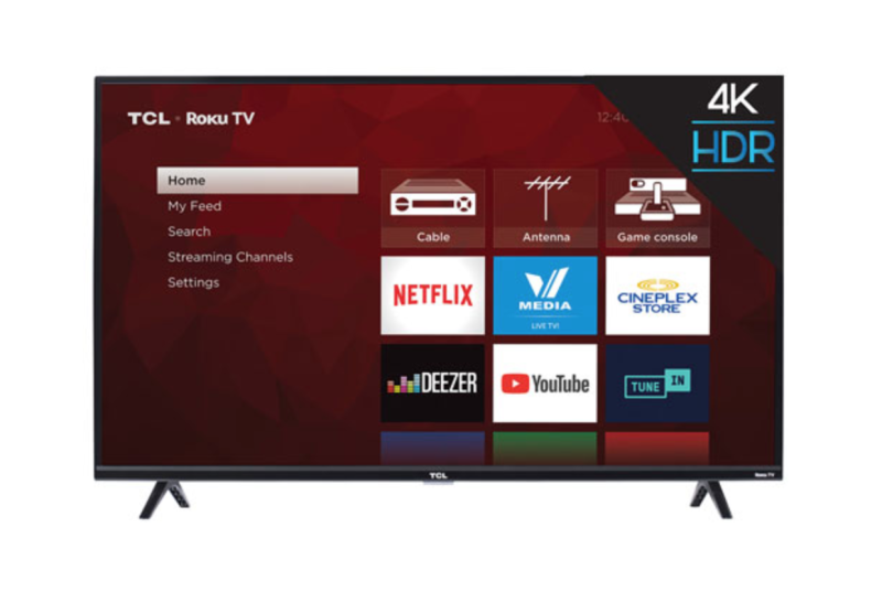 "TCL 4-Series 43"" 4K UHD HDR LED Roku OS Smart TV. Image via Best Buy."