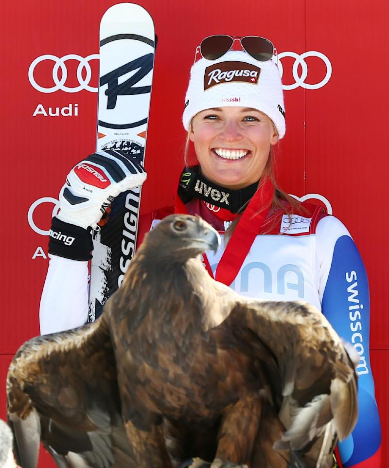 Gut wins super-G race for 2nd straight victory