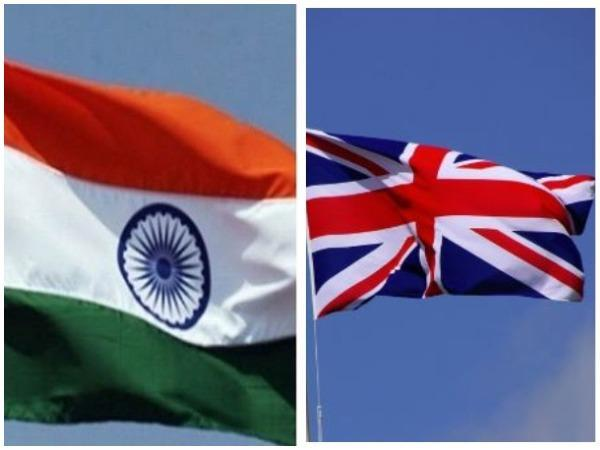 Indian and UK flags